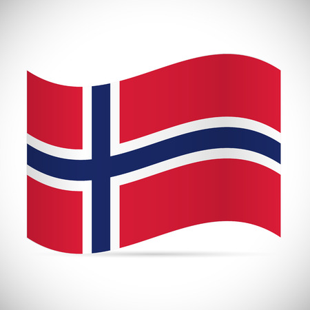 Illustration of the flag of Norway isolated on a white background.