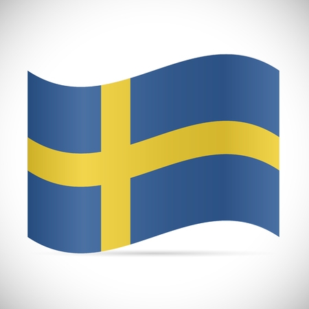 Illustration of the flag of Sweden isolated on a white background.  イラスト・ベクター素材