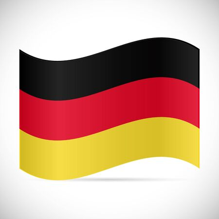 Illustration of the flag of Germany isolated on a white background. Illustration