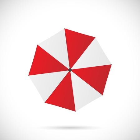 Illustration of an umbrella isolated on a white background.