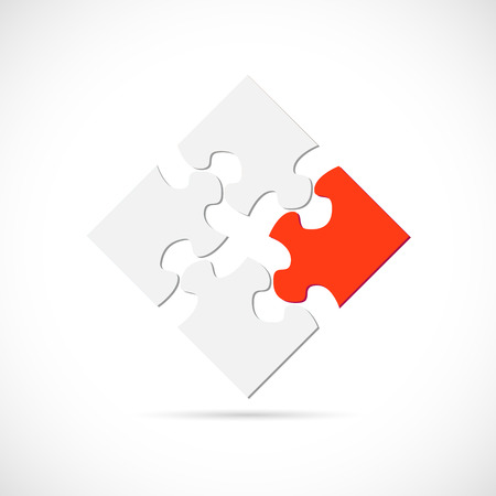 Illustration of a puzzle design isolated on a white background. Stock Illustratie