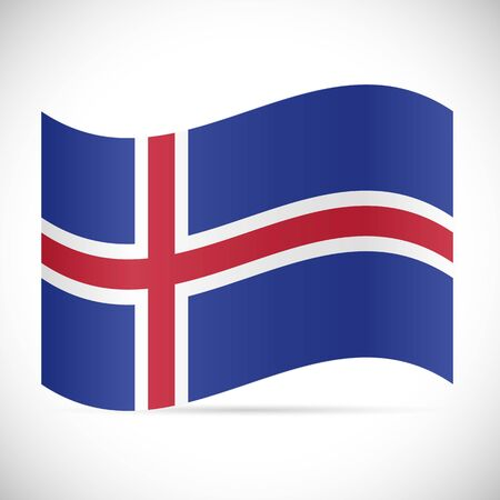 Illustration of the flag of Iceland isolated on a white background.