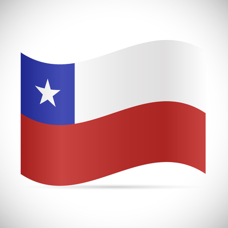 Illustration of the flag of Chile isolated on a white background.