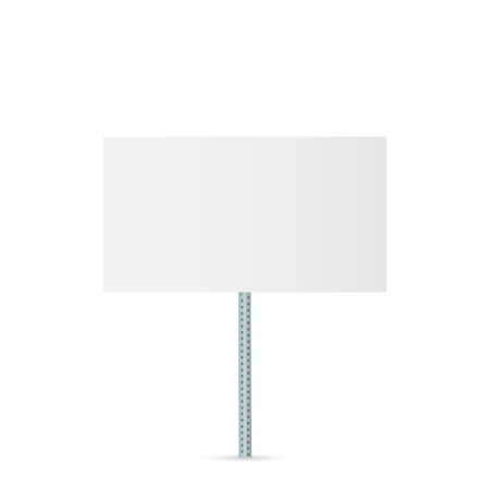 Illustration of a blank sign isolated on a white background.