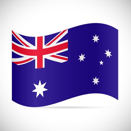 Illustration of the flag of Australia isolated on a white background.