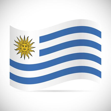 Illustration of the flag of Uruguay isolated on a white background.