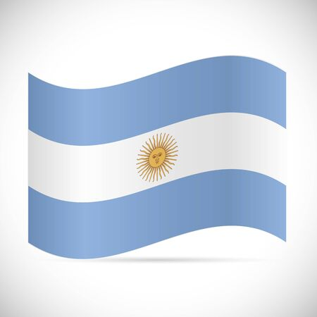 Illustration of the flag of Argentina isolated on a white background.