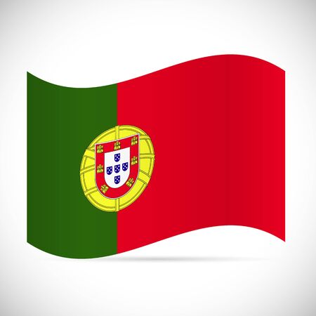 Illustration of the flag of Portugal isolated on a white background.