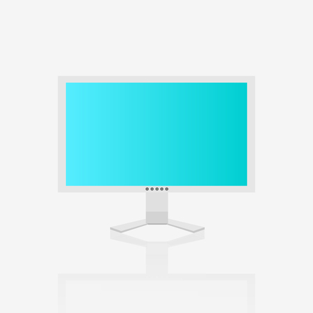 Illustration of a computer screen isolated on a white background. 向量圖像