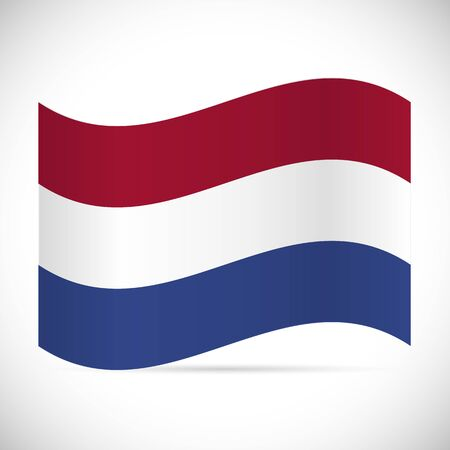 Illustration of the flag of Netherlands isolated on a white background. Stock Illustratie