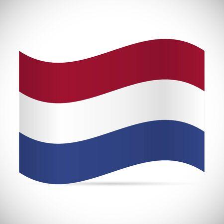 Illustration of the flag of Netherlands isolated on a white background. Illustration