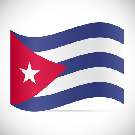 Illustration of the flag of Cuba isolated on a white background. Stock Illustratie