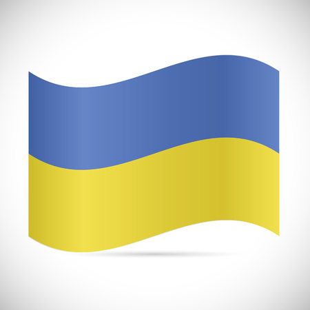 Illustration of the flag of Ukraine isolated on a white background.