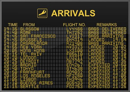 International Airport Arrivals Board photo