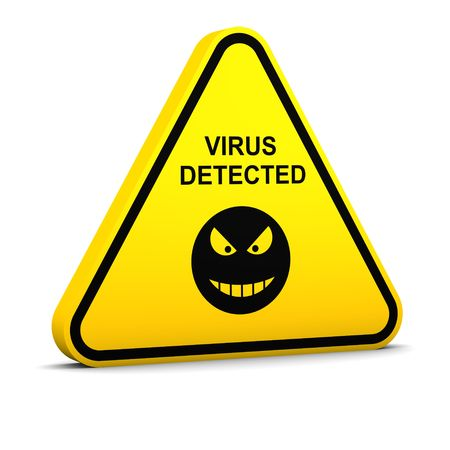 Warning: virus detected photo
