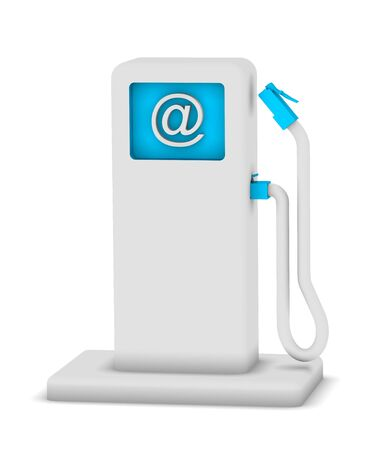 suggests: Internet service station that suggests internet charging system Stock Photo