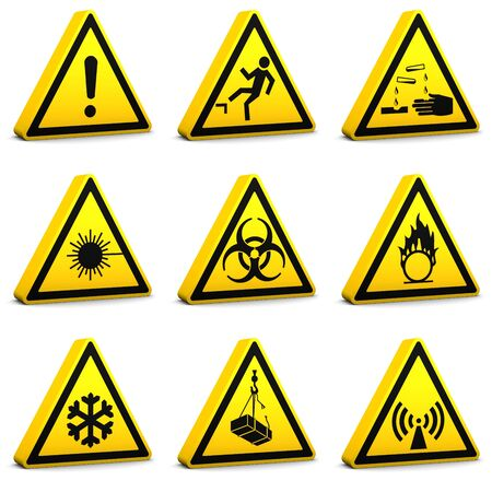 Safety signs on a white background. Set02-Part of a series. Stock Photo - 6141919