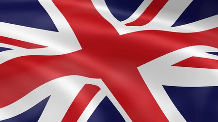 United Kingdom flag in the wind. Part of a series. Stock Photo