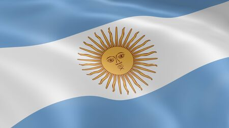 Argentina flag in the wind. Part of a series. Stock Photo - 7027078