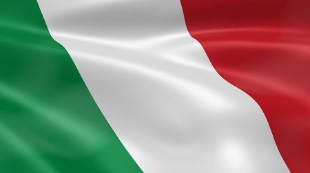 Italian flag in the wind. Part of a series. photo