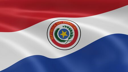 paraguayan: Paraguayan flag in the wind. Part of a series.
