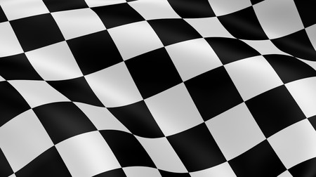 checkered flag: Checkered flag Stock Photo