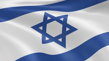 Israeli flag in the wind. Part of a series. Stock Photo - 7103299