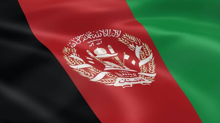 afghan flag: Afghan flag in the wind. Part of a series.