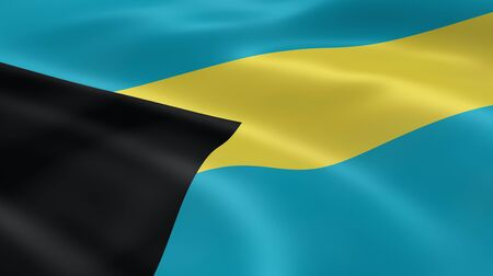 bahamian: Bahamian flag in the wind. Part of a series.