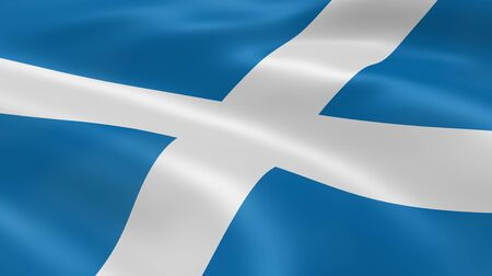 scottish flag: Scottish flag in the wind. Part of a series.