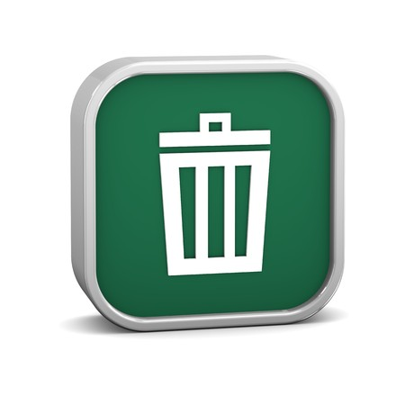 Green trash bin sign on a white background. Part of a series. Stock Photo - 8079513