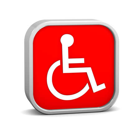 assistive: Accessibility sign on a white background. Part of a series.