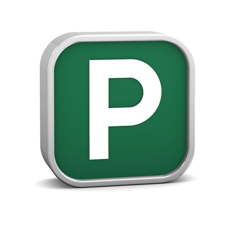 Parking sign on a white background. Part of a series. Stock Photo - 8675600