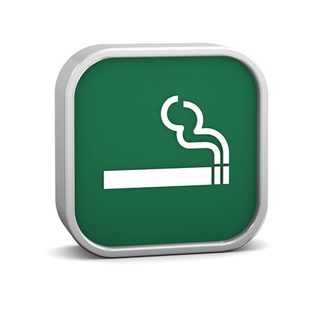 permitted: Smoking area sign on a white background. Part of a series. Stock Photo