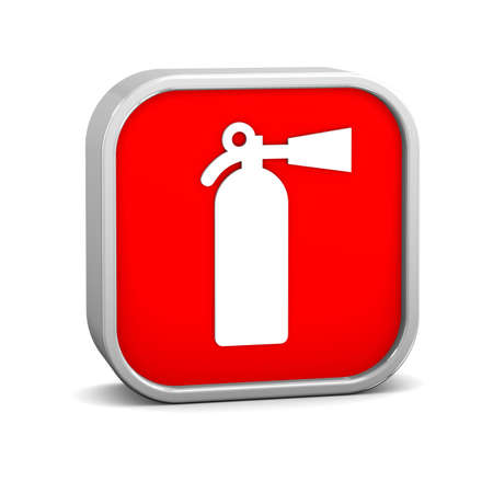 Fire extinguisher sign on a white background. Part of a series. photo