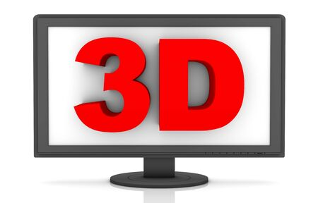 3D LCD on a white background. photo