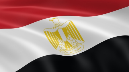 hymn: Egyptian flag waving in the wind. Part of a series.