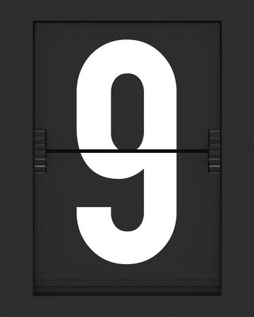 timetable: Numero da un bordo meccanico lembo di Spalato. Render 3D e parte di una serie.