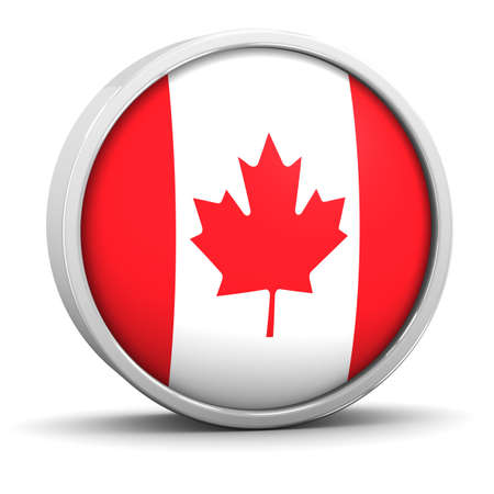 Canadian flag with circular frame. Part of a series. photo