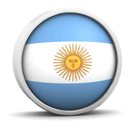 argentinian flag: Argentinian flag with circular frame. Part of a series.