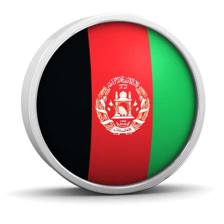 afghan flag: Afghan flag with circular frame. Part of a series.