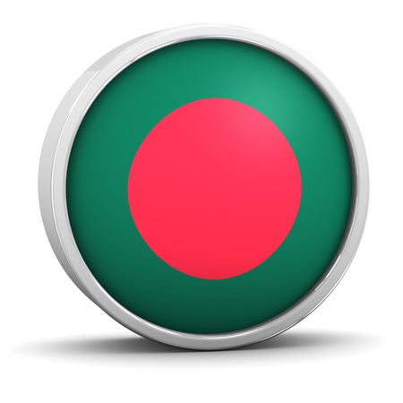 Bangladeshi flag with circular frame. Part of a series. photo