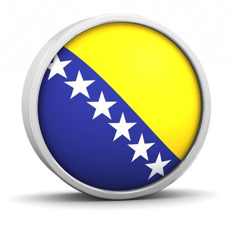 Bosnian flag with circular frame. Part of a series. photo