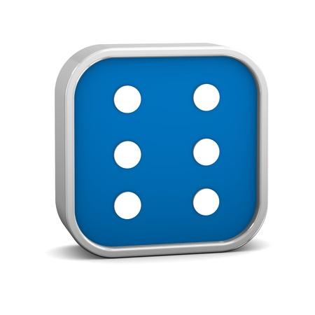 braille: Signo Braille sobre un fondo blanco. Parte de una serie.