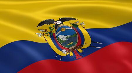 ecuadorian: Eciadorian flag in the wind. Part of a series.