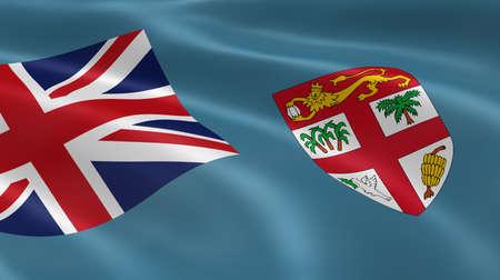 fiji: Fijian flag in the wind. Part of a series.