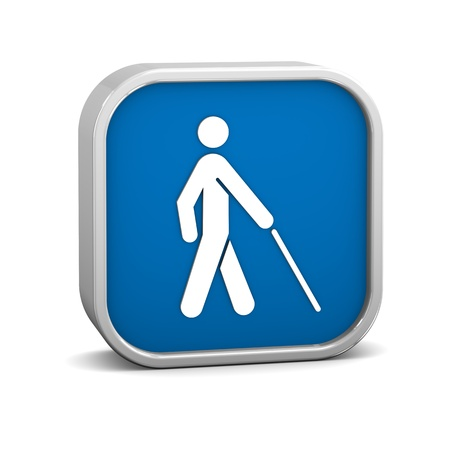 braille: La baja visi�n el acceso signo sobre un fondo blanco. Parte de una serie.