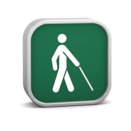 Low vision access  sign on a white background. Part of a series. photo