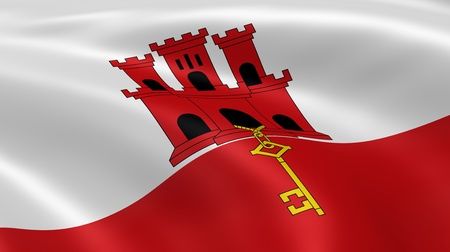 gibraltar: Gibraltarian flag in the wind. Part of a series.