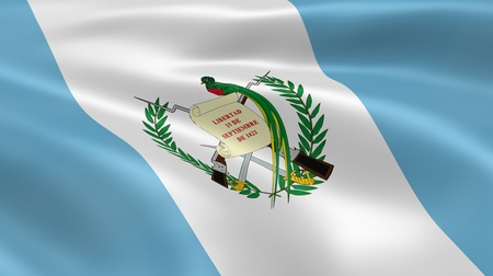 guatemala: Guatemalan flag in the wind. Part of a series.